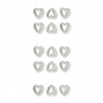 Acryl-Sticker Herzen selbstklebend