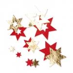 Filz-Sterne mit Foliendruck