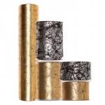Dekostoff mit Gold-/Silber-Druck