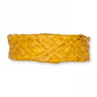 Flechtband Natur-Raffia gelb