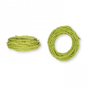 Kordel Natur-Raffia grün