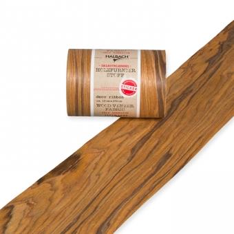 Holzfurnier-Stoff selbstklebend 10 cm | braun