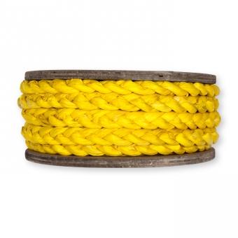 Maisstroh-Flechtband gelb