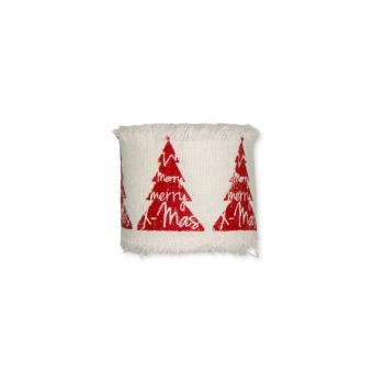 bedrucktes Baumwollband Rot-Baum