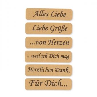 Papier-Sticker, deutsch