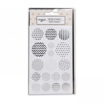 Papier-Sticker Kreise