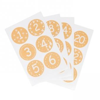 """Papier-Sticker """"1-24"""""""