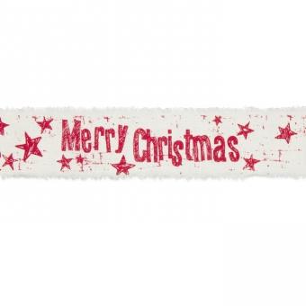 "Baumwoll-Druckband ""Merry Christmas"""