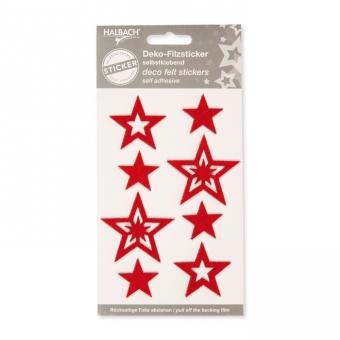 "Filz-Sticker ""Sterne"" selbstklebend"