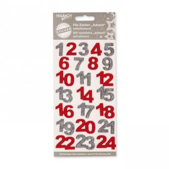 Sticker Filz-Zahlen 1-24