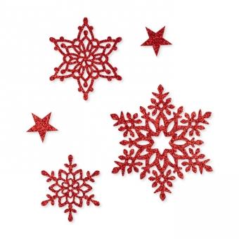 """Glitter-Sticker """"Sterne"""", selbstklebend"""