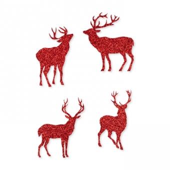 Glitter-Sticker Hirsche, selbstklebend