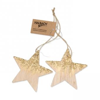 Holzhänger mit Glitter
