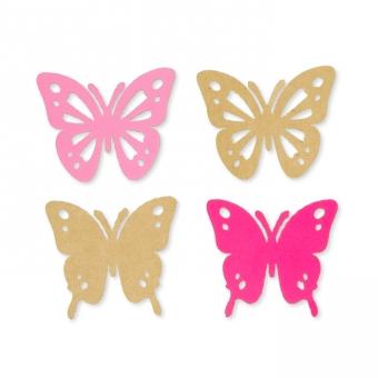 "Papier-Sortiment ""Schmetterlinge"" rosa/pink"