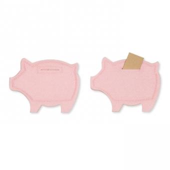 Moneten-Schwein rosa