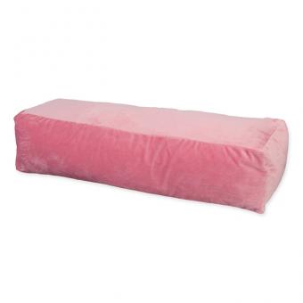 Samtkissen/Nackenrolle rosa