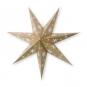 Glitter-Papierstern 7-zackig, Farbe: gold