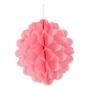 Wabenpapier Kugel, Farbe: rosa