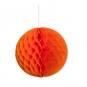 Wabenpapier Kugel, Farbe: orange