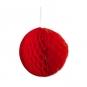 Wabenpapier Kugel, Farbe: rot