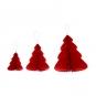Wabenpapier-Bäume 3er Set, Farbe: Rot