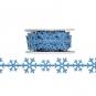 """Filzband """"Eiskristalle"""", Farbe: hellblau"""