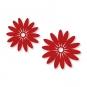"""Filz-Sortiment """"Blüten"""", Farbe: rot"""