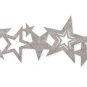 "Filzband ""Sterne"", Farbe: Hellgrau"