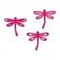 Filz-Libellen, sortiert, Farbe: pink
