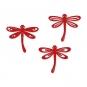 Filz-Libellen, sortiert, Farbe: rot