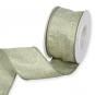 """Dekorationsband """"Glitter"""", Farbe: Pastellgrün/Gold"""