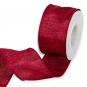 """Dekorationsband """"Glitter"""", Farbe: Rot/Rot"""