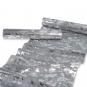 Dekostoff mit Metallic-Druck, Farbe: Grau/Silber