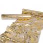 Dekostoff mit Metallic-Druck, Farbe: Natur/Gold