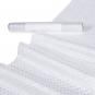 """Organza Glitterdruck """"Punkte"""", Farbe: Weiß/Silber"""
