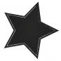 """Tafelstoff-Sticker """"Stern"""", selbstklebend, Farbe: Schwarz"""