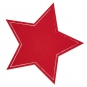 "Tafelstoff-Sticker ""Stern"", selbstklebend, Farbe: Rot"