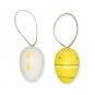 Plastik Ostereier-Hänger, Farbe: Gelb/Weiß/Grün