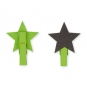 """Tafel-Clip """"Stern"""", Farbe: grün"""