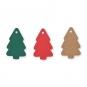 """Papier-Anhänger """"Tannenbaum"""", Farbe: dunkelgrün/rot/natur"""