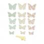 Papierschmetterlinge Deko-Set DIY, Farbe: hellblau/grün/rosa