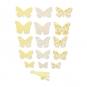 Papierschmetterlinge Deko-Set DIY, Farbe: gelb