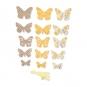 Papierschmetterlinge Deko-Set DIY, Farbe: orange/taupe