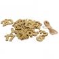 Glitter-Adventskalender- Set 1-24, Farbe: gold glitter