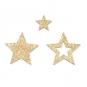 Holz-Streudeko mit Glitter, Farbe: Gold