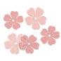 "Holz-Streudeko ""Blumen"", Farbe: Rosa"