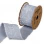 """Baumwoll-Druckband """"Stern"""", Farbe: Eisblau/Weiß"""