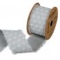 "Baumwoll-Druckband ""Stern-Muster"", Farbe: Grau/Weiß"
