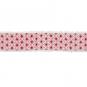 """Baumwoll-Druckband """"Stern-Muster"""", Farbe: Weiß/Rot"""