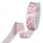 Dekorationsband Baumwolloptik, Farbe: Rose/Beere